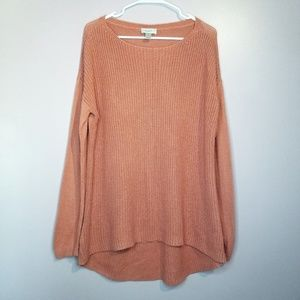 LOFT Salmon knit sweater size XL